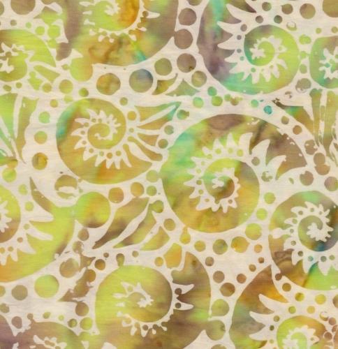 BATIK TEXTILES - Batik - Green Nautilus - K75009-