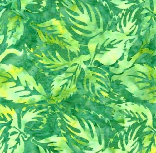 BATIK TEXTILES - Batik - Green/Yellow Leaves - K75011-
