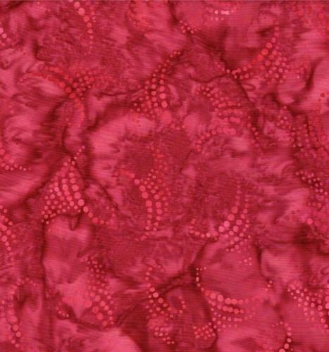 BATIK TEXTILES - Batik - Red Spotted Swirls - K30005-
