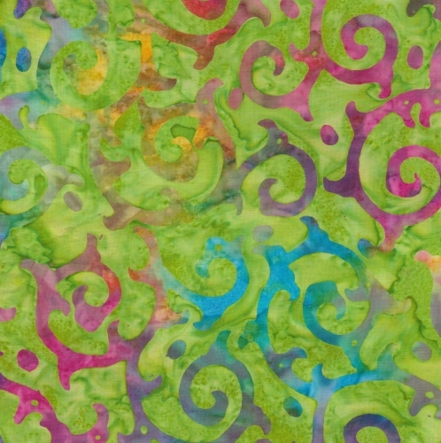 BATIK TEXTILES - Venus, Cattails, and Moon Bayou - Thorny Vines - K75001-