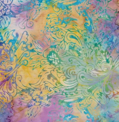 BATIK TEXTILES - Batik - Floral Multi - K100007-