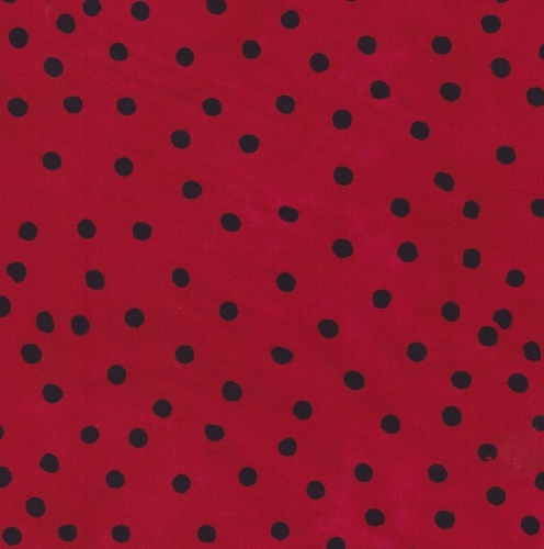 BATIK TEXTILES - Serendipity - Red/Black Polka Dots - K30003- g