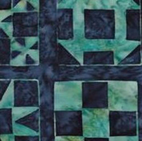 BATIK TEXTILES - Batik - Blue - Green - K85081-