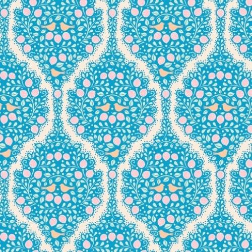 TILDA FABRICS - Lemon Tree - Lemonade - Blue