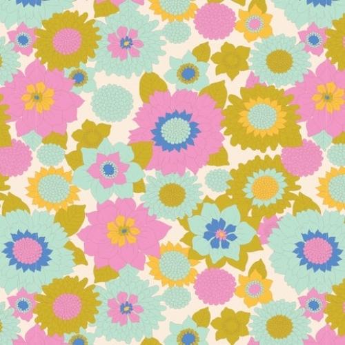 TILDA FABRICS - Lemon Tree - Boogie Flower - Dove White