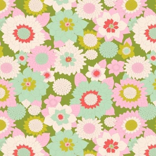 TILDA FABRICS - Lemon Tree - Boogie Flower - Green