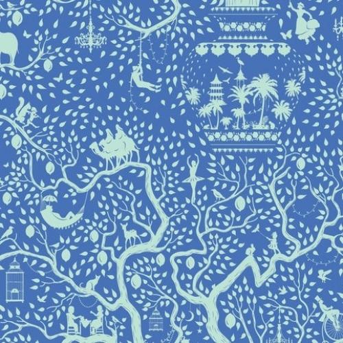 TILDA FABRICS - Lemon Tree - Lemontree - Blue