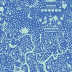 TILDA FABRICS - Lemon Tree - Lemontree - Blue