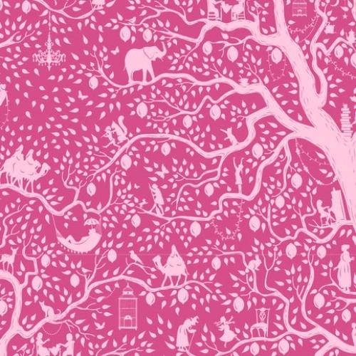 TILDA FABRICS - Lemon Tree - Lemontree - Plum