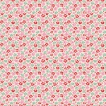 TILDA FABRICS - Lemon Tree - Flowerfield - Red