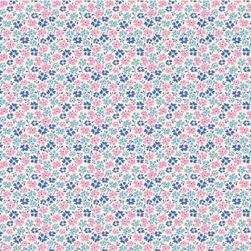 TILDA FABRICS - Lemon Tree - Flowerfield - Blue