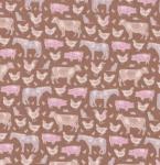 TILDA - Tiny Farm - Farm Animals - Brown