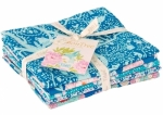 Lemon Tree Fat Quarter Bundle Blue Teal by Tilda