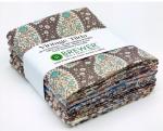 Vintage Tilda Plum Garden Nutmeg Fat Quarter Bundle 5 pcs