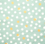 BIRCH FABRIC - Tonoshi - Organic - Mochi Dot Mineral - Metallic Gold