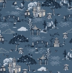 ANDOVER - Indigo by Makower - Scene Blue