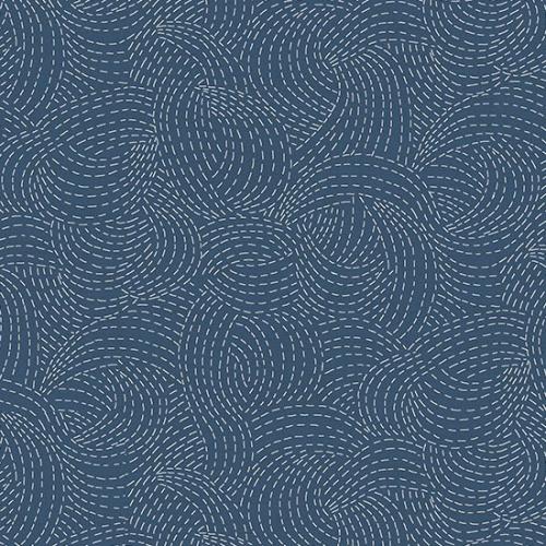 ANDOVER - Indigo by Makower - Sashiko Blue