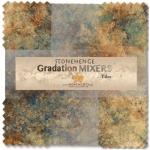 Northcott - Mixers - Earth Stonehenge Gradations 10 Inch Tiles 42 pcs