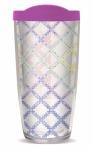 Acrylic Tumbler - Irish Chain Quilt Pattern