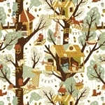 BIRCH FABRICS - Best of Teagan White - Tree Fort
