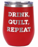 Tumbler - Red - Drink Quilt Repeat by Wholesale Boutique