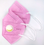 Pack of 2 - Pink KN95 with Vent Disposable Mask