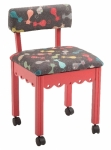 Arrow Wood Sewing and Craft Chair Cats Meow Red Drop Ship