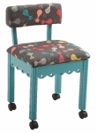 Arrow Wood Sewing and Craft Chair Cats Meow Blue Drop Ship