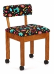 Arrow Wood Sewing and Craft Chair Black Sewing Oak Drop Ship