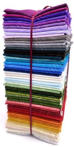 Benartex - Wave Texture Fat Quarter Bundle - 54 Pieces