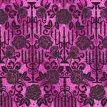 KAUFMAN - Totally Twilight - Wishwell by Vanessa Lillrose & Linda Fitch - Metallic - Gumdrop