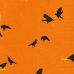 KAUFMAN - Totally Twilight - Wishwell by Vanessa Lillrose & Linda Fitch - Metallic - Pumpkin