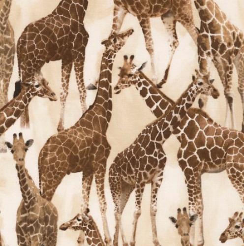 TIMELESS TREASURES - Wild - Giraffes - Tan