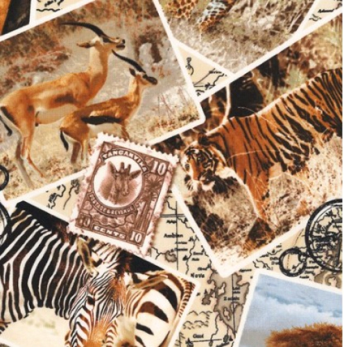 TIMELESS TREASURES - Wild -Safari Post Card - Multi