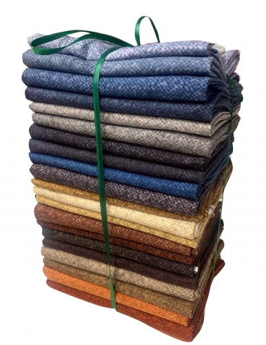 Winter Wool Fat Quarter Bundle 22 pcs