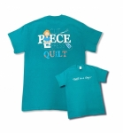 Teal Extra Large Cut Piece Press & Quilt T-Shirt