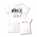Clearance - White Extra Large Cut Piece Press & Quilt T-Shirt