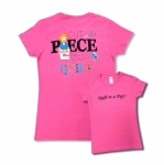 Clearance - Pink Extra Large Cut Piece Press & Quilt T-Shirt