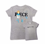 Gray Extra Large Cut Piece Press & Quilt T-Shirt