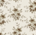 CLOTHWORKS - Blueberry Buckle - Brown Flowers - FB7116