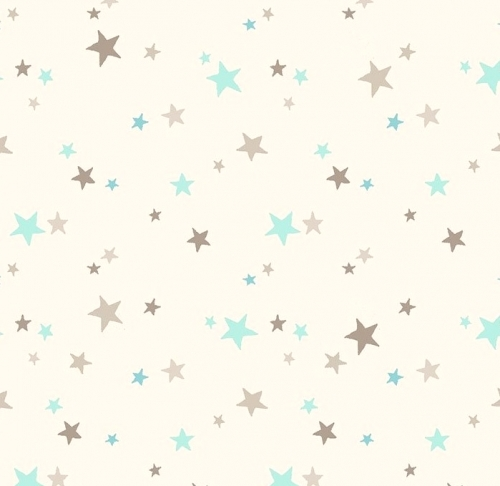 CLOTHWORKS - Guess How Much I Love You - FLANNEL  - Brown & Blue Stars