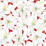 CLOTHWORKS - Holidays Remembered - White/Red