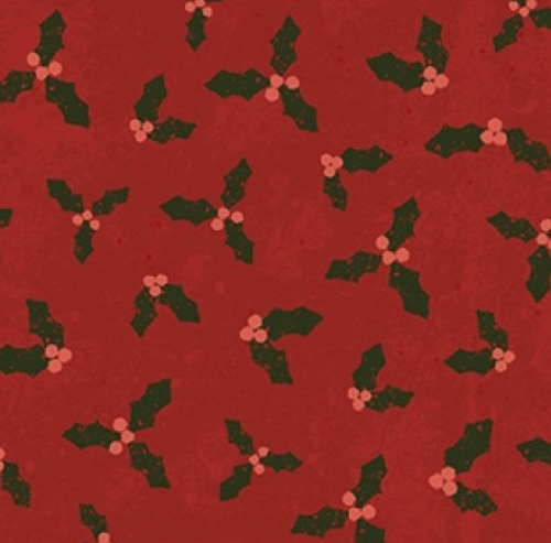 CLOTHWORKS - Home For Christmas - Holly Red