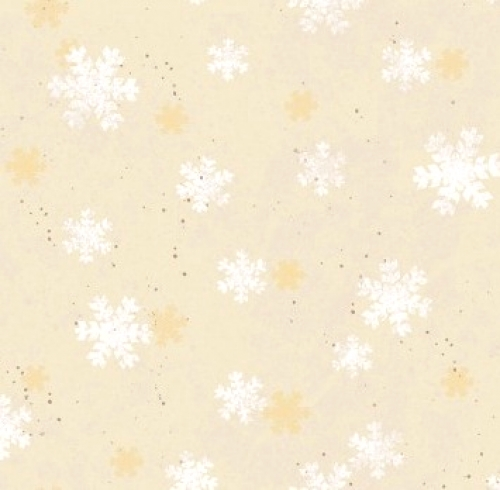 CLOTHWORKS - Home For Christmas - Snowflake Cream