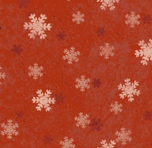 CLOTHWORKS - Home For Christmas - Snowflake Red