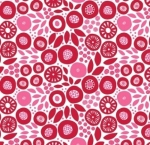 CLOTHWORKS - Birds And Blooms - Red Floral - FB7229