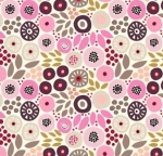 CLOTHWORKS - Birds And Blooms - Pink Floral - FB7228