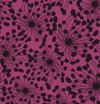 CLOTHWORKS - Birds And Blooms - Plum - FB7225