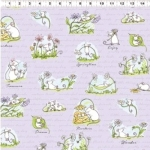 CLOTHWORKS - Daisy, Daisy by Anita Jeram - Light Purple