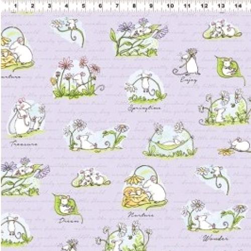 CLOTHWORKS - Daisy, Daisy by Anita Jeram - Light Purple